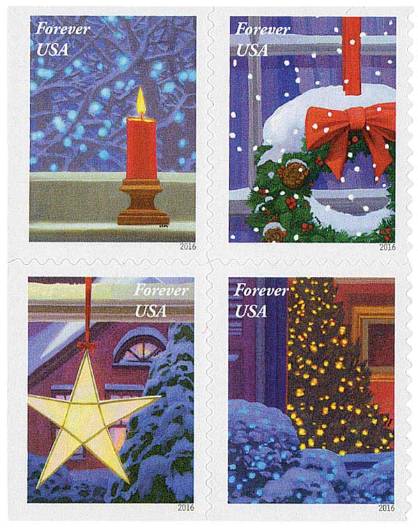2016 First-Class Forever Stamp - Contemporary Christmas: Holiday Windows