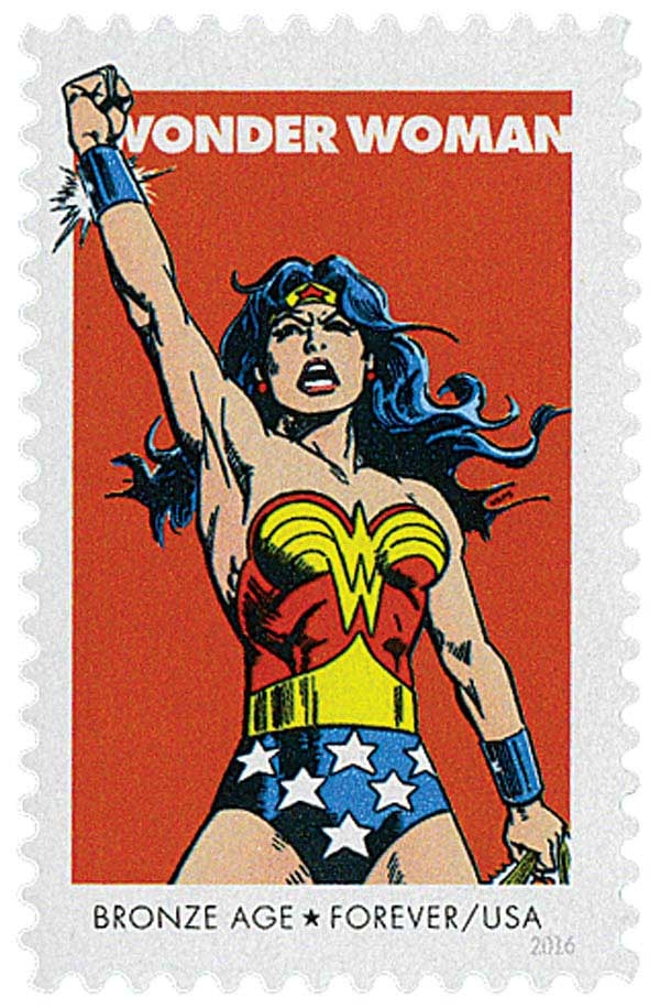 2016 First-Class Forever Stamp - Wonder Woman: Bronze Age