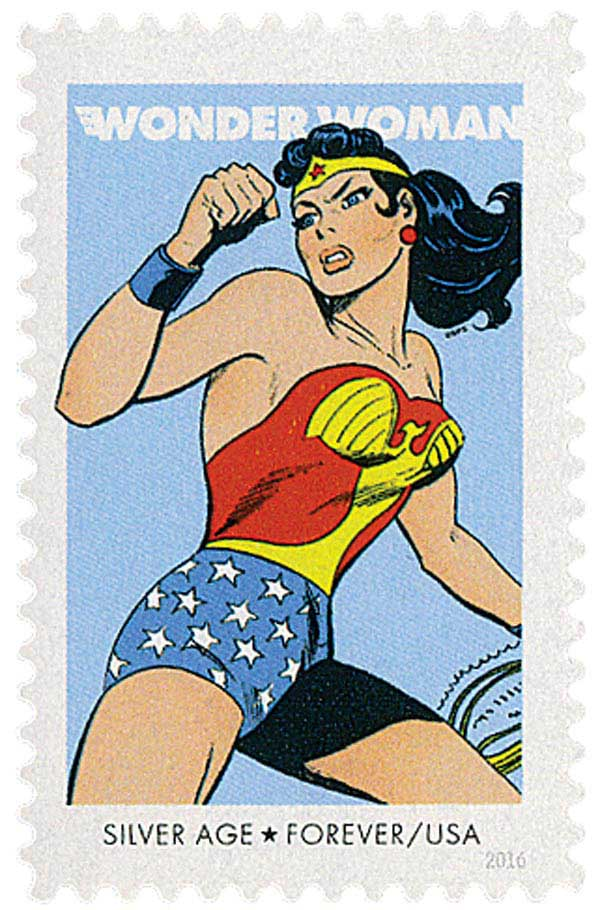 2016 First-Class Forever Stamp - Wonder Woman: Silver Age