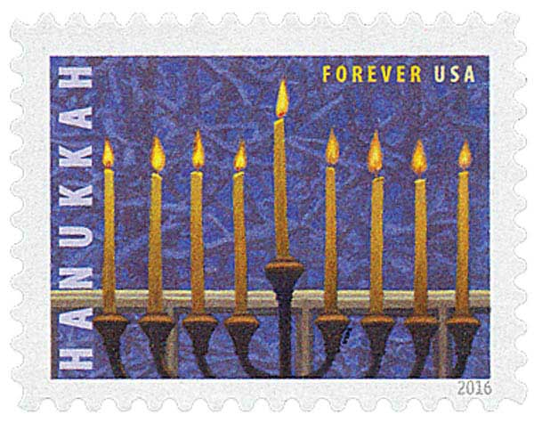 2016 First-Class Forever Stamp - Hanukkah