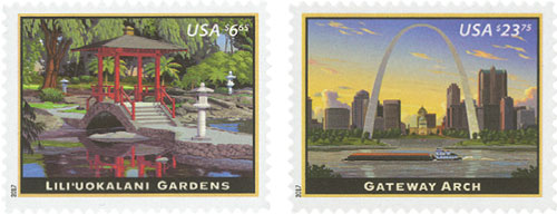2017 Priority and Express Mail, collection of 2 stamps