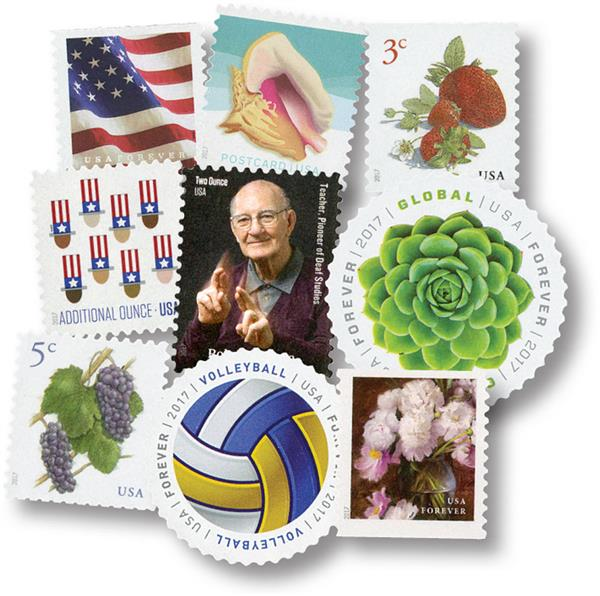 2017 Regular Issues, collection of 36 stamps