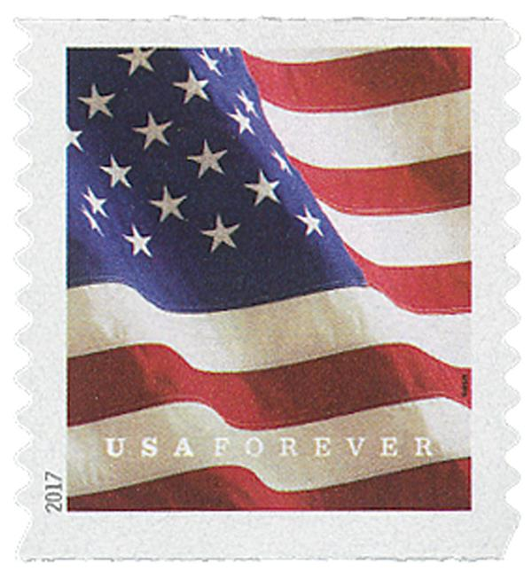 2017 First-Class Forever Stamp - U.S. Flag (Sennett Security Products, coil)