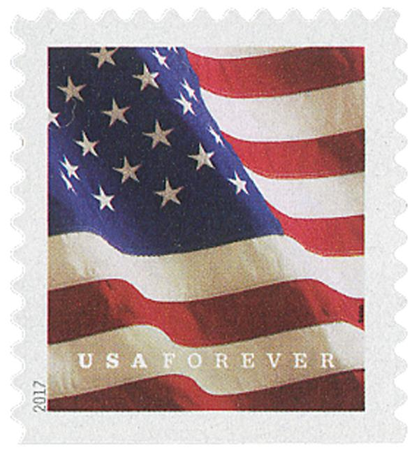 2017 First-Class Forever Stamp - U.S. Flag (Sennett Security Products, booklet)