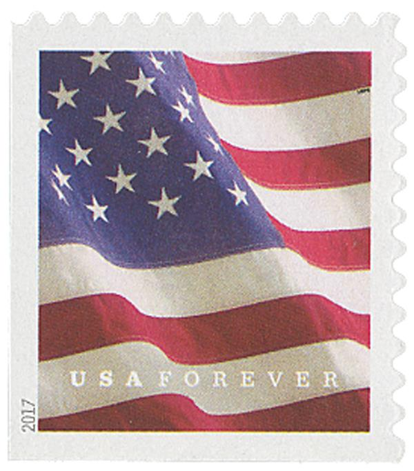 2017 First-Class Forever Stamp - U.S. Flag (Ashton Potter, booklet)