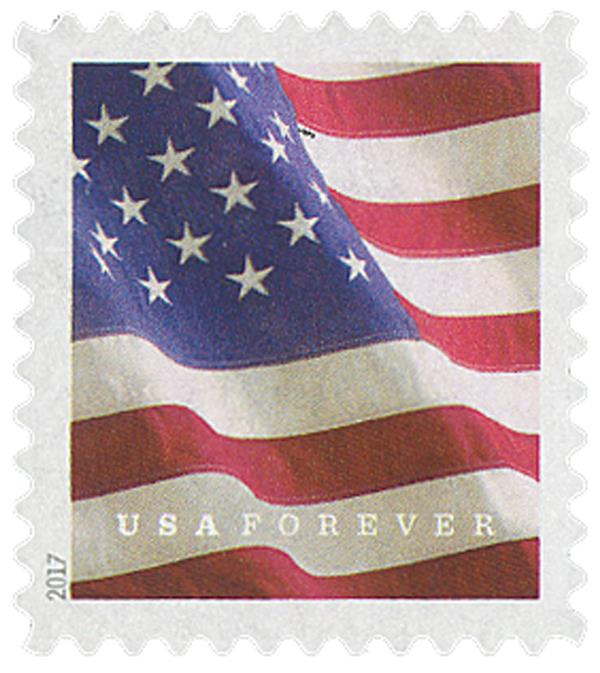 2017 First-Class Forever Stamp - U.S. Flag (Ashton Potter, ATM booklet)