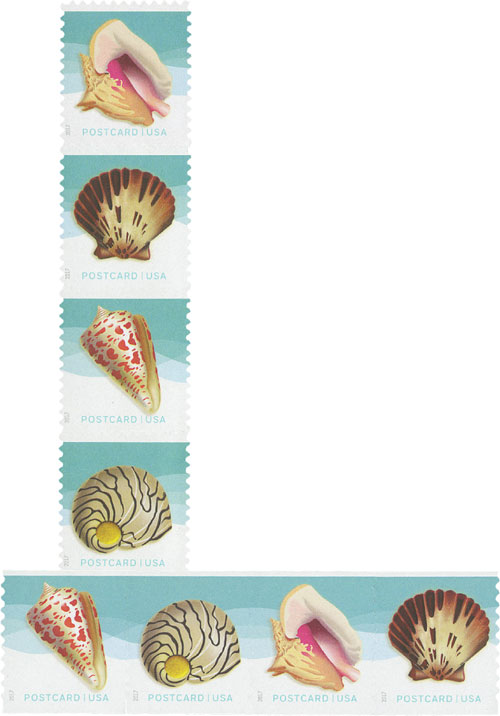 2017 34c Seashells, Set of 8