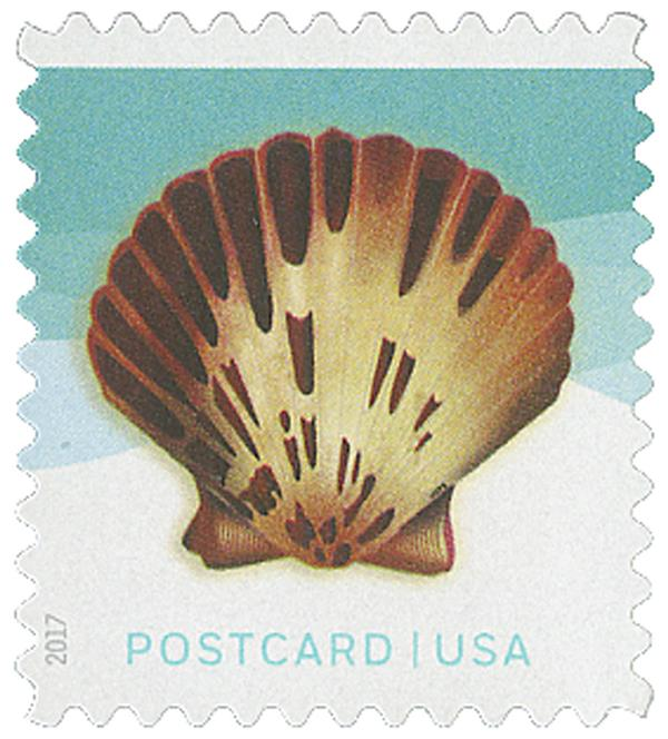 2017 34c Seashells: Pacific Calico Scallop
