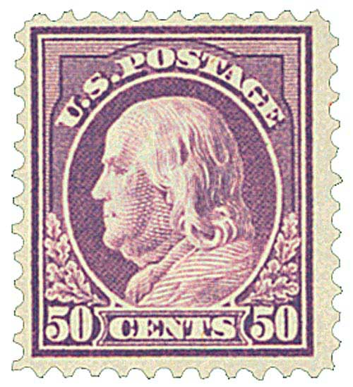 1917 50c Franklin, red violet