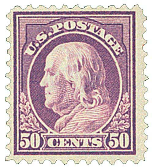 1917 50c Franklin, red violet