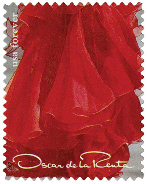 2017 First-Class Forever Stamp - Oscar de la Renta: Red Dress