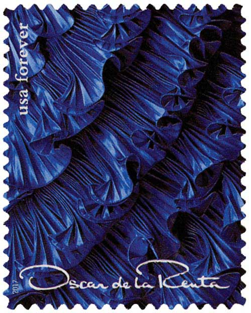 2017 First-Class Forever Stamp - Oscar de la Renta: Dark Blue Dress
