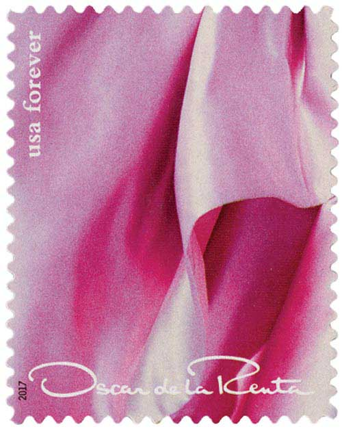 2017 First-Class Forever Stamp - Oscar de la Renta: Pink Dress