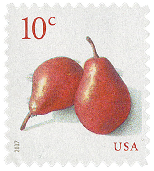 2017 10c Red Pears