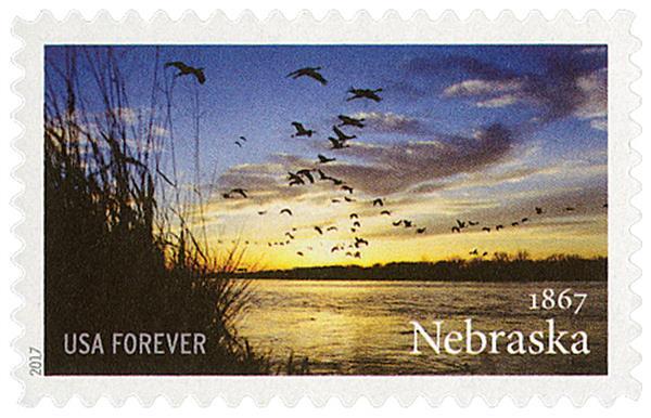 2017 First-Class Forever Stamp - Statehood: Nebraska Sesquicentennial