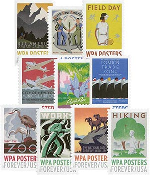2017 First-Class Forever Stamp - WPA Posters