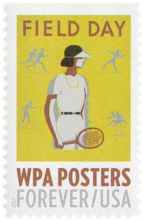 2017 First-Class Forever Stamp - WPA Posters: Field Day