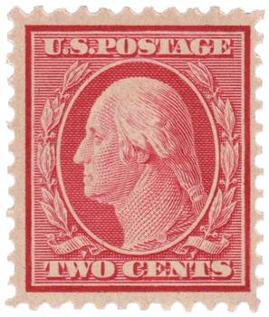 1917 2c Washington DL Wmrk carmine pf 11