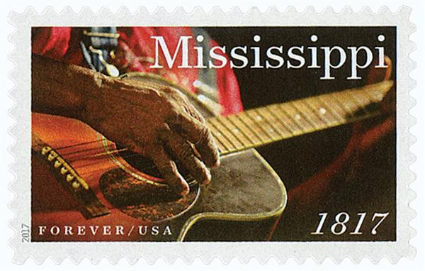 2017 First-Class Forever Stamp - Statehood: Mississippi Bicentennial