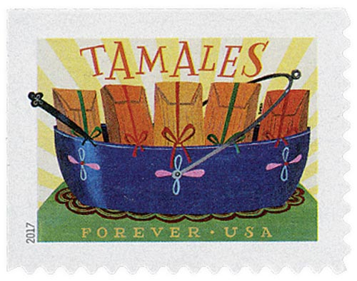2017 First-Class Forever Stamp - Delicioso: Tamales