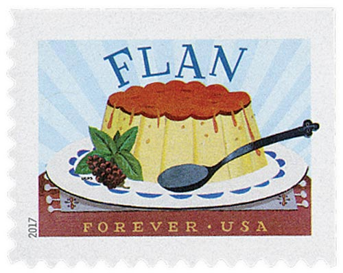 2017 First-Class Forever Stamp - Delicioso: Flan