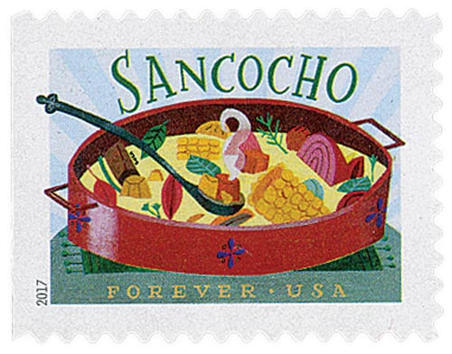 2017 First-Class Forever Stamp - Delicioso: Sancocho