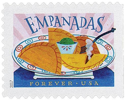 2017 First-Class Forever Stamp - Delicioso: Empanadas