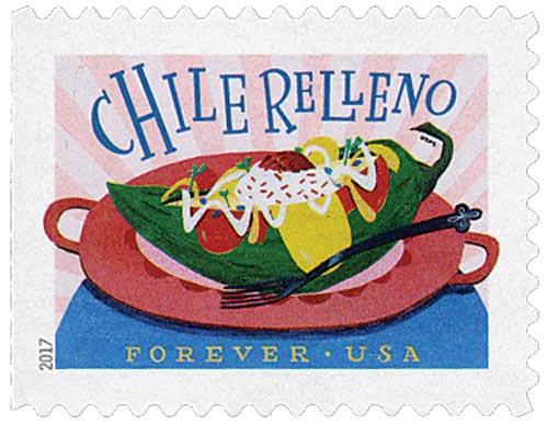 2017 First-Class Forever Stamp - Delicioso: Chile Relleno