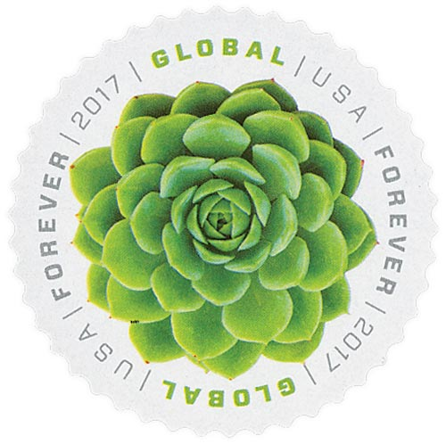 2017 Global Forever Stamp - Green Succulent