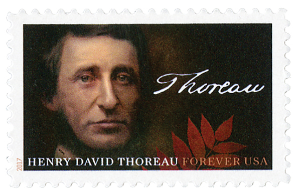 2017 First-Class Forever Stamp - Henry David Thoreau
