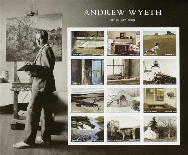 2017 First-Class Forever Stamp - Andrew Wyeth Paintings