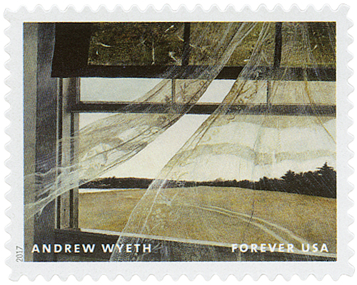2017 First-Class Forever Stamp - Andrew Wyeth Paintings: 'Wind From the Sea'