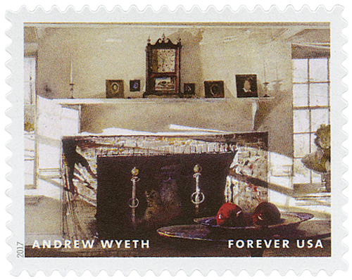 "2017 First-Class Forever Stamp - Andrew Wyeth Paintings: ""Big Room"""