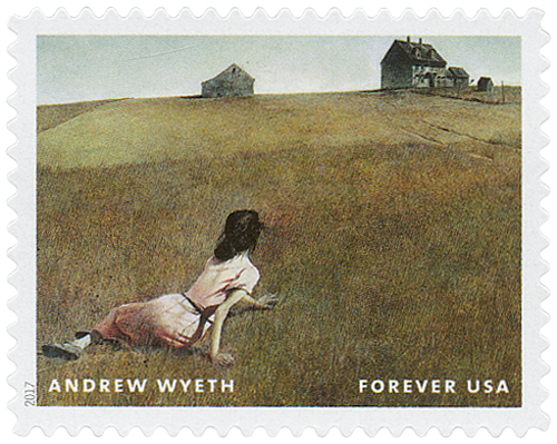 2017 First-Class Forever Stamp - Andrew Wyeth Paintings: 'Christina's World'