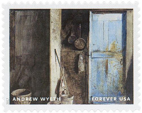 2017 First-Class Forever Stamp - Andrew Wyeth Paintings: 'Alvaro & Christina' A. Wyeth