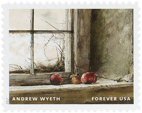 2017 First-Class Forever Stamp - Andrew Wyeth Paintings: 'Frostbitten'
