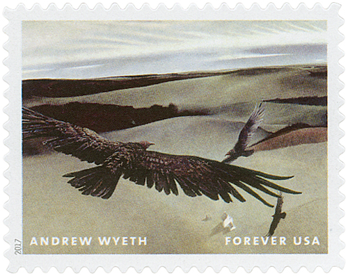 "2017 First-Class Forever Stamp - Andrew Wyeth Paintings: ""Soaring"""