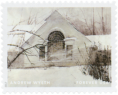 "2017 First-Class Forever Stamp - Andrew Wyeth Paintings: ""North Light"""