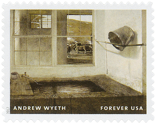 "2017 First-Class Forever Stamp - Andrew Wyeth Paintings: ""Spring Fed"""