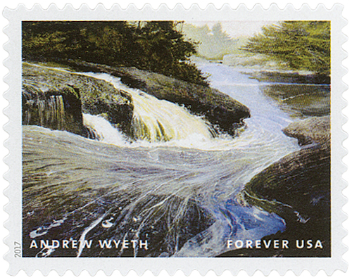 "2017 First-Class Forever Stamp - Andrew Wyeth Paintings: ""The Carry"""
