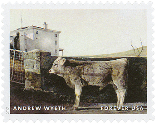 "2017 First-Class Forever Stamp - Andrew Wyeth Paintings: ""Young Bull"""