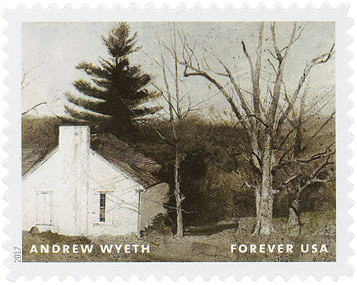 "2017 First-Class Forever Stamp - Andrew Wyeth Paintings: ""My Studio"""