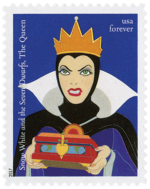 2017 First-Class Forever Stamp - Disney Villains: The Queen from 'Snow White and the Seven Dwarfs'
