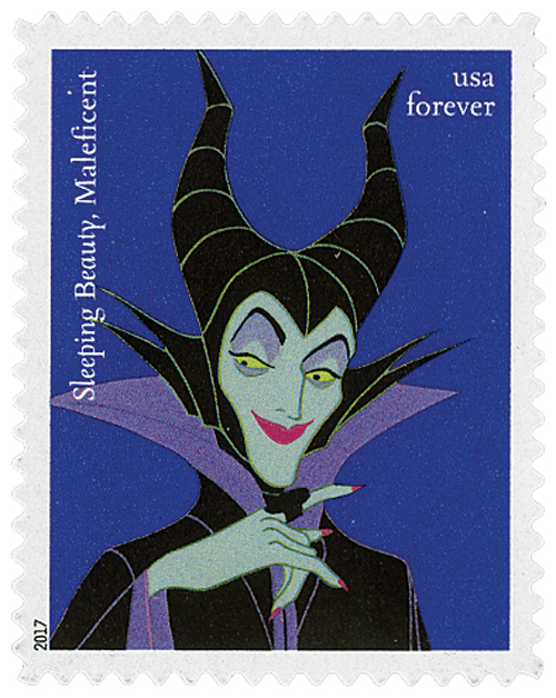 2017 First-Class Forever Stamp - Disney Villains: Maleficent from 'Sleeping Beaty'