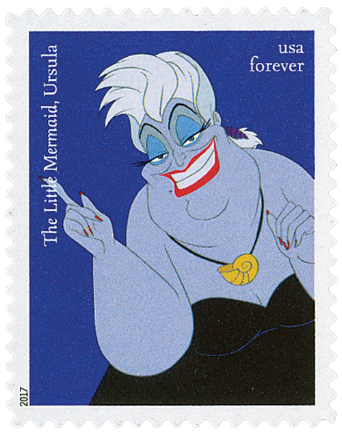 "2017 First-Class Forever Stamp - Disney Villains: Ursula from ""The Little Mermaid"""