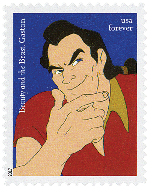 "2017 First-Class Forever Stamp - Disney Villains: Gaston from ""Beauty and the Beast"""