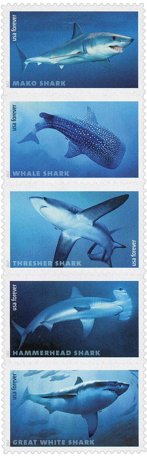 2017 First-Class Forever Stamp - Sharks