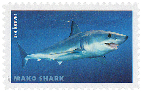 2017 First-Class Forever Stamp - Sharks: Mako Shark