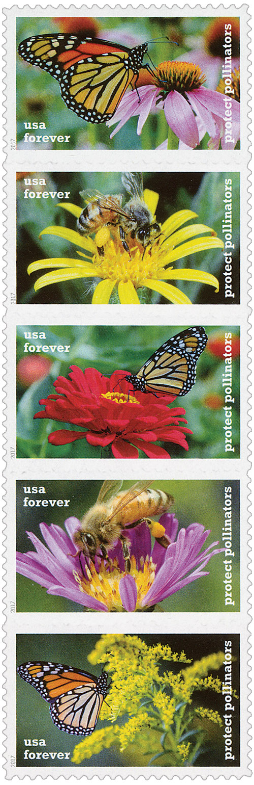 2017 First-Class Forever Stamp - Protect Pollinators