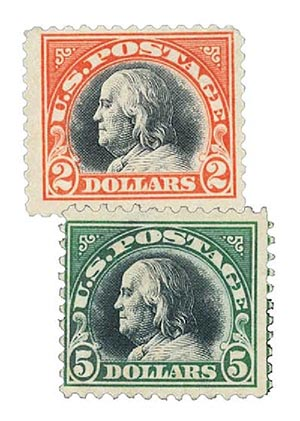 Complete Set, 1918 Franklin High Values
